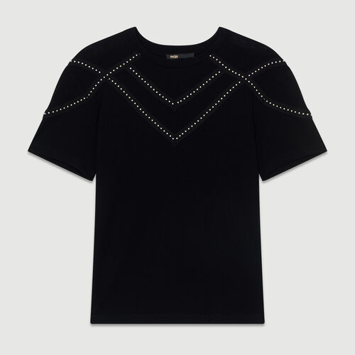 Studded Tshirt : See all color Black 210