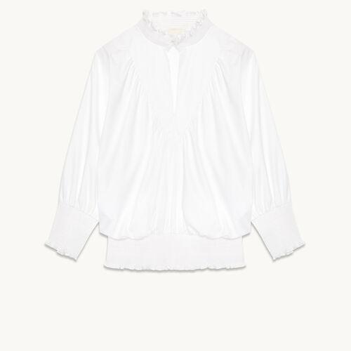 Cotton blouse - Tops & Shirts - MAJE