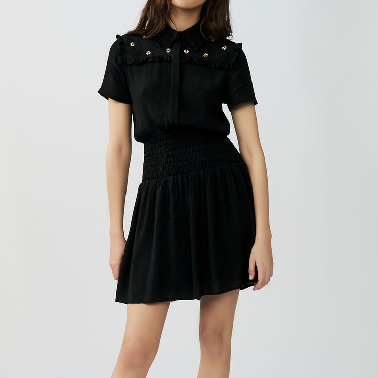 Dress embroidered bees : Dresses color Black 210