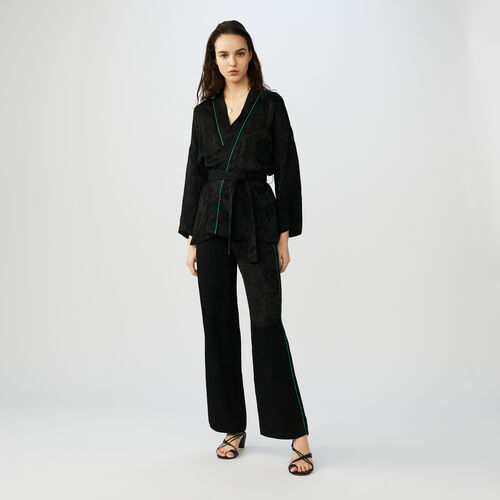 Kimono jacket with belt : Blazers color Black 210