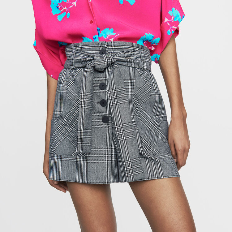 Shorts with Prince of Wales print : Skirts & Shorts color CARREAUX