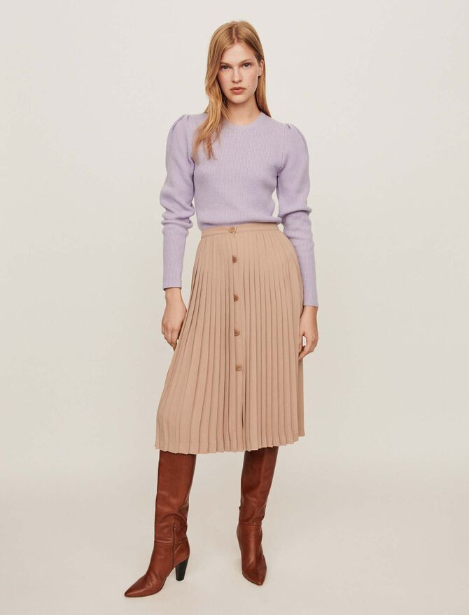 Pleated skirt with buttons - SoldesFR_Jupes_shorts - MAJE