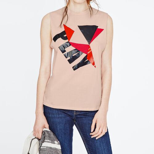 Printed Tshirt : T-shirts color Pink