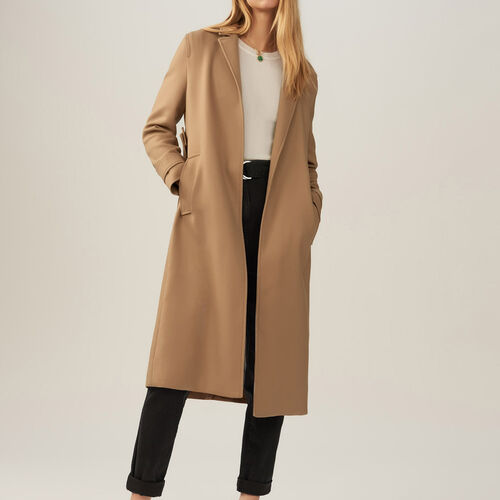 Trench with removable belt : Coats color Black 210