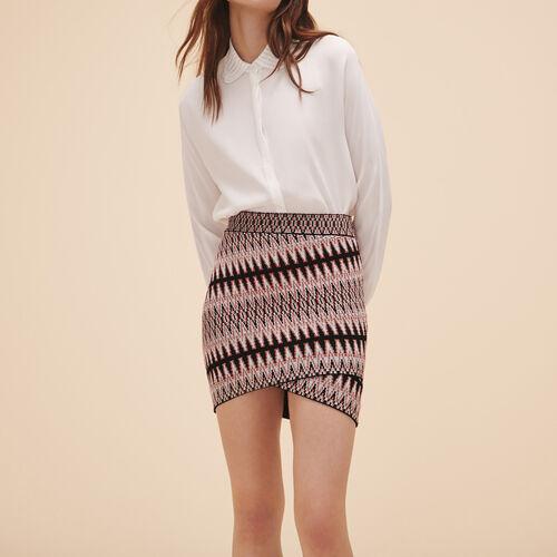 Short jacquard skirt : Skirts & Shorts color Jacquard