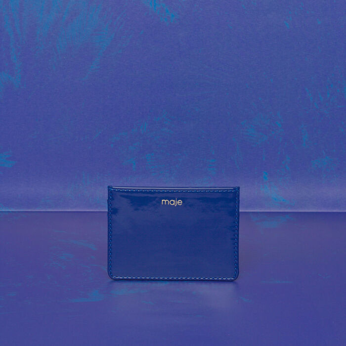 Leather Card Holder : Gift with purchase color Blue