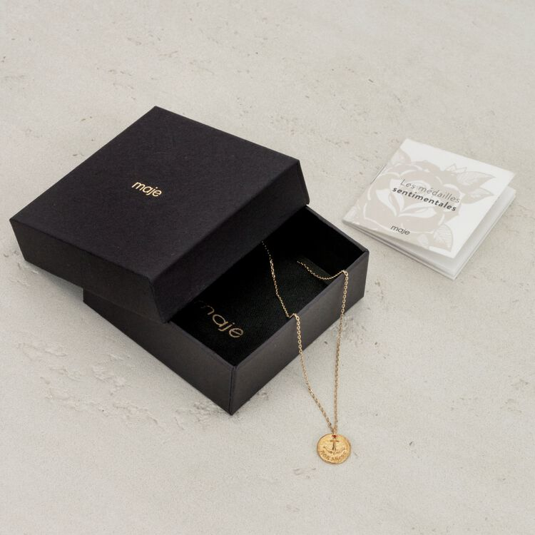 """Necklace """"Mon coeur"""" in gold plated : Jewelry color GOLD"""