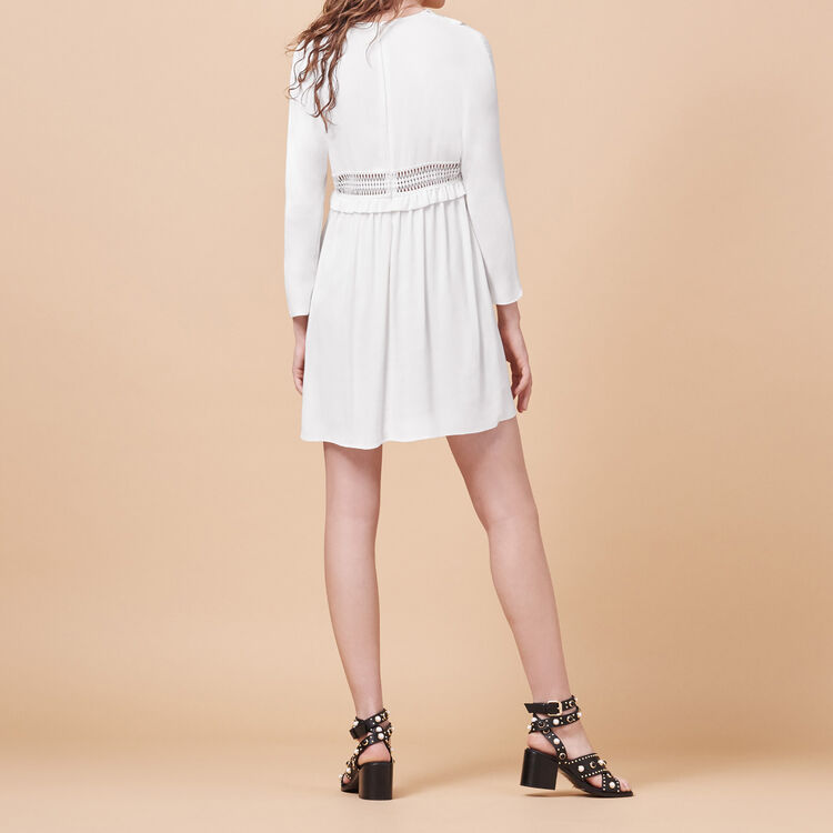 Crêpe dress with openwork details - See all - MAJE