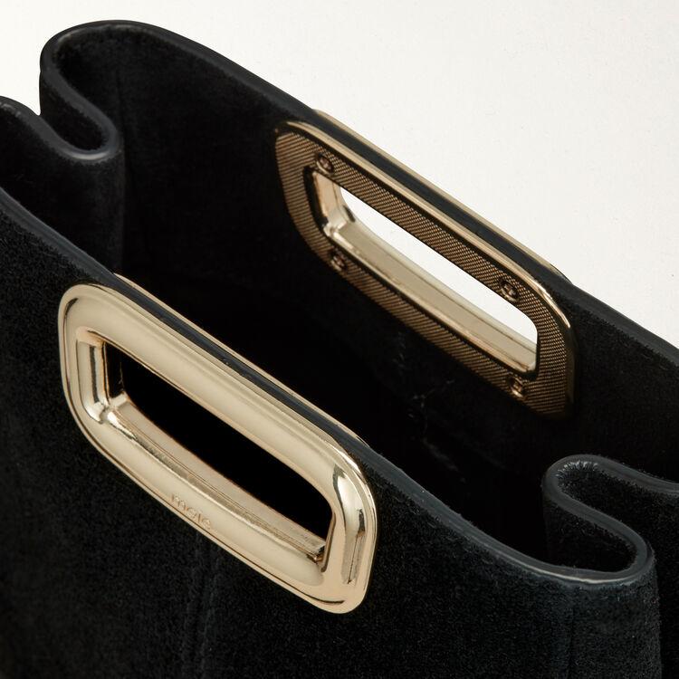 M Mini Skin bag in suede and metal : M Skin color Black 210