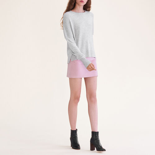 Cashmere jumper : Knitwear color China Grey