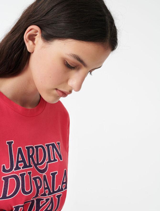 Silkscreen printed T-shirt - SoldesIT_Tops_chemises - MAJE