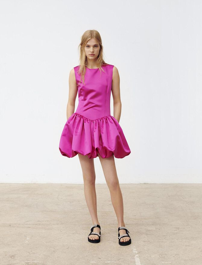 Satin skater dress - Dresses - MAJE
