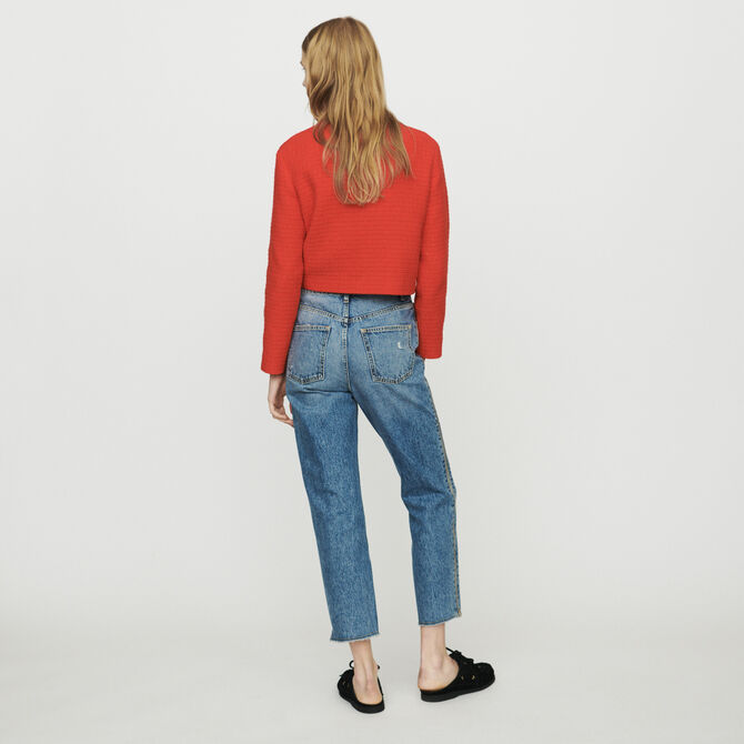 Straight jeans with zip - See all - MAJE