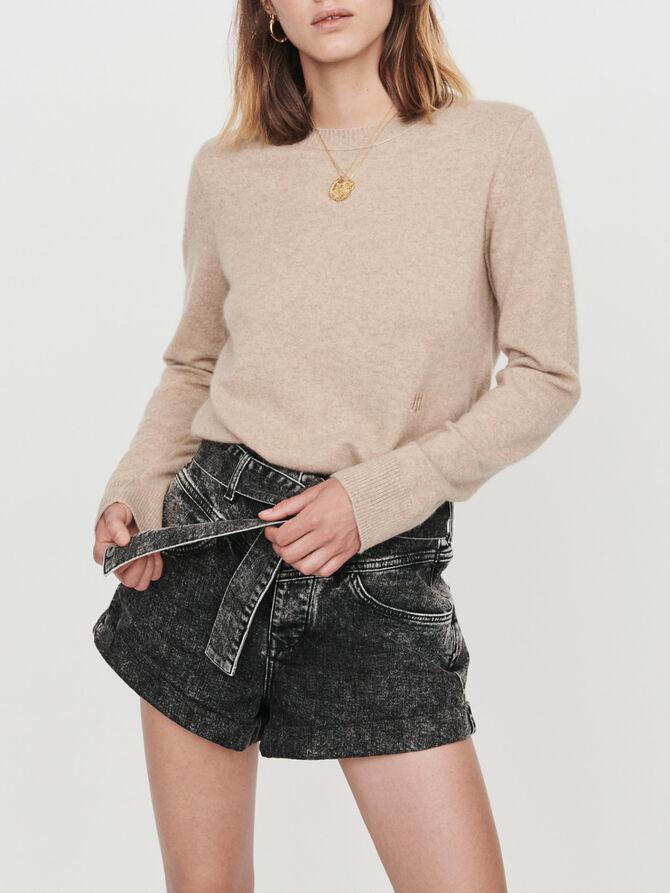 Cashmere jewel-neck sweater - Knitwear - MAJE