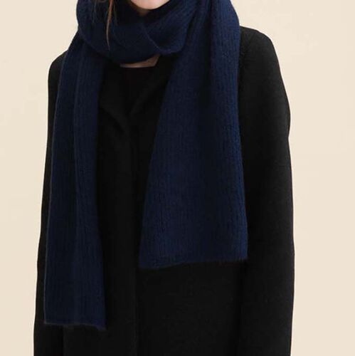 Wool blend scarf  : Scarves color Navy