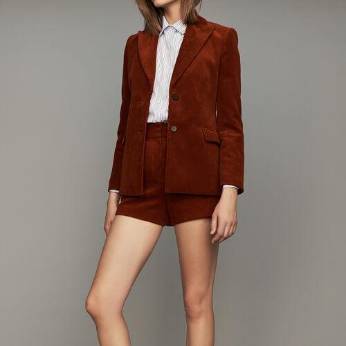 Corduroy suit jacket : Blazers color Caramel