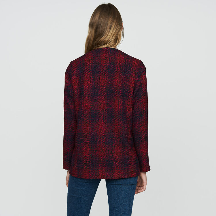 Knit tweed jacket : Ready to wear color CARREAUX