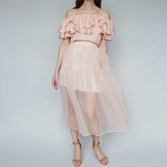 Long organza-style skirt - staff private sale 20 - MAJE