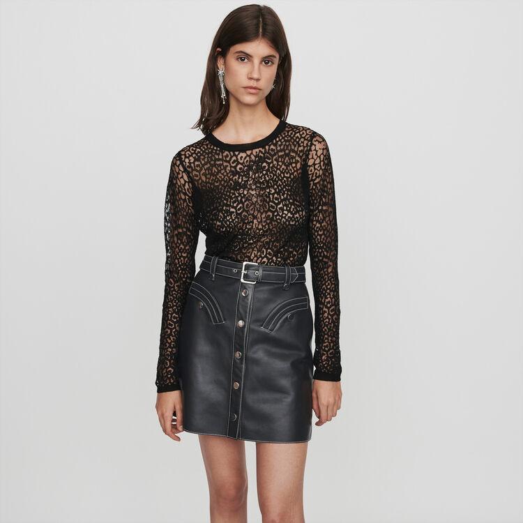 Devore t-shirt : Knitwear color Black
