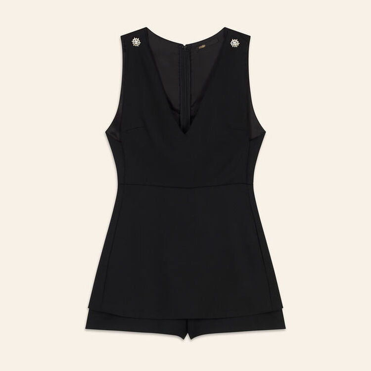 Sleeveless playsuit : Skirts & Shorts color Black 210