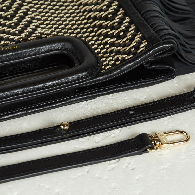 Leather M bag with braiding - Accessories - MAJE