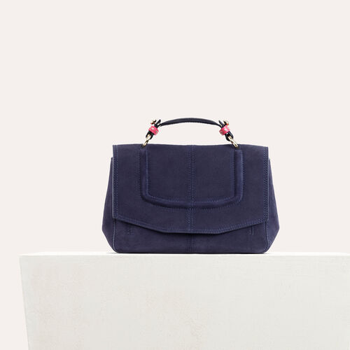 Mini satchel in two-tone suede : Bags color Black 210