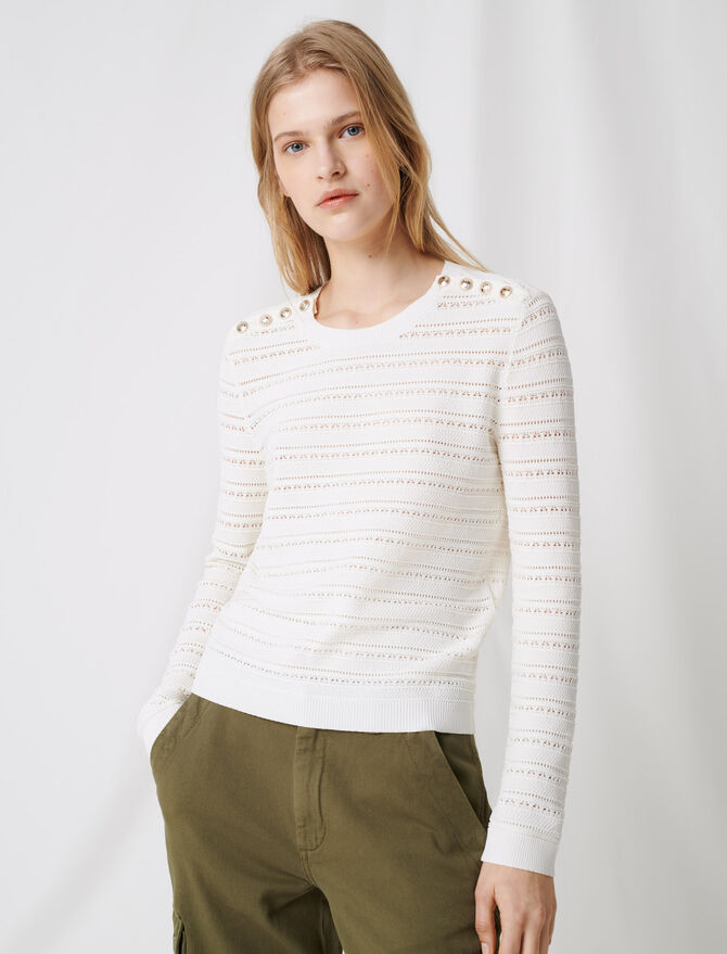 Jumper with intricate button details -  - MAJE