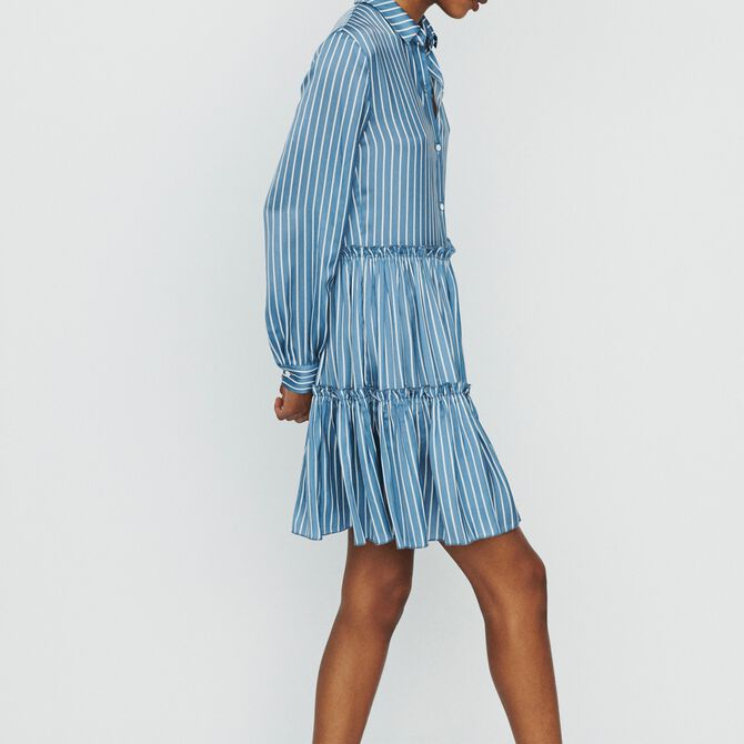 Striped shirt dress with ruffles - Copy of See all - MAJE