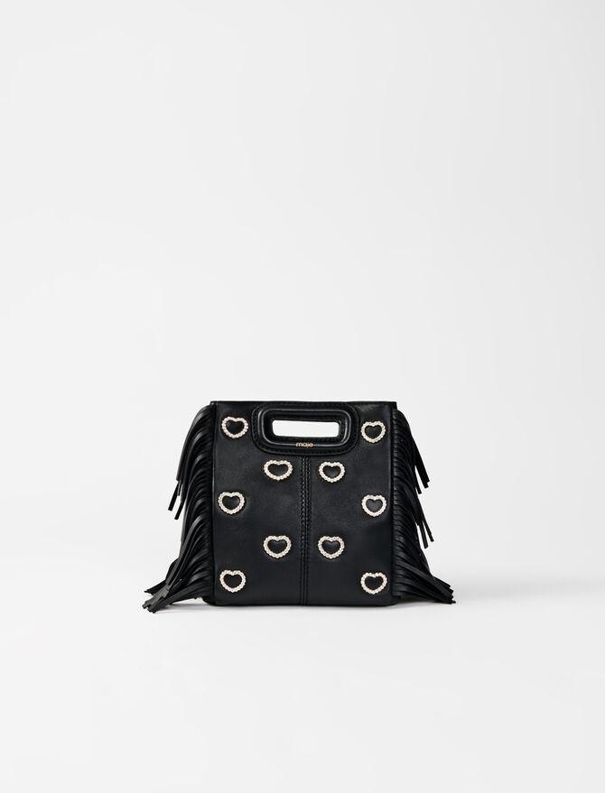Leather mini M bag, diamanté - Présoldes-Tout_voir-DE - MAJE