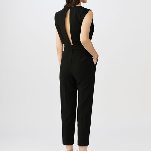 Sleeveless jumpsuit : Trousers & Jeans color Black 210