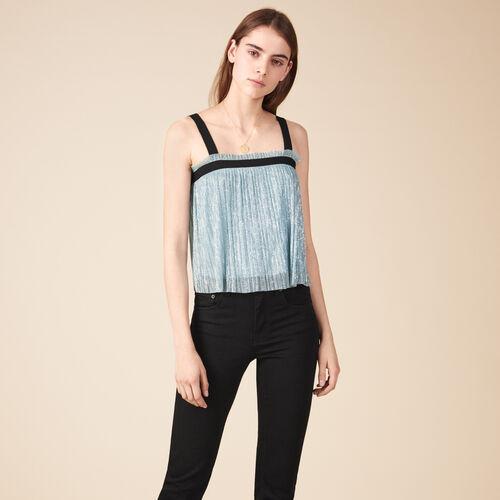Pleated-effect lurex top. - Tops - MAJE