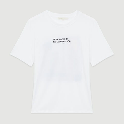 Tee-shirt with slogan and print : T-Shirts color White