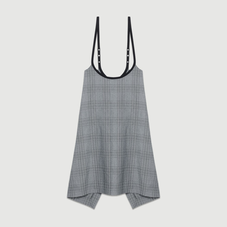 Strappy jacquard dress : Ready to wear color CARREAUX