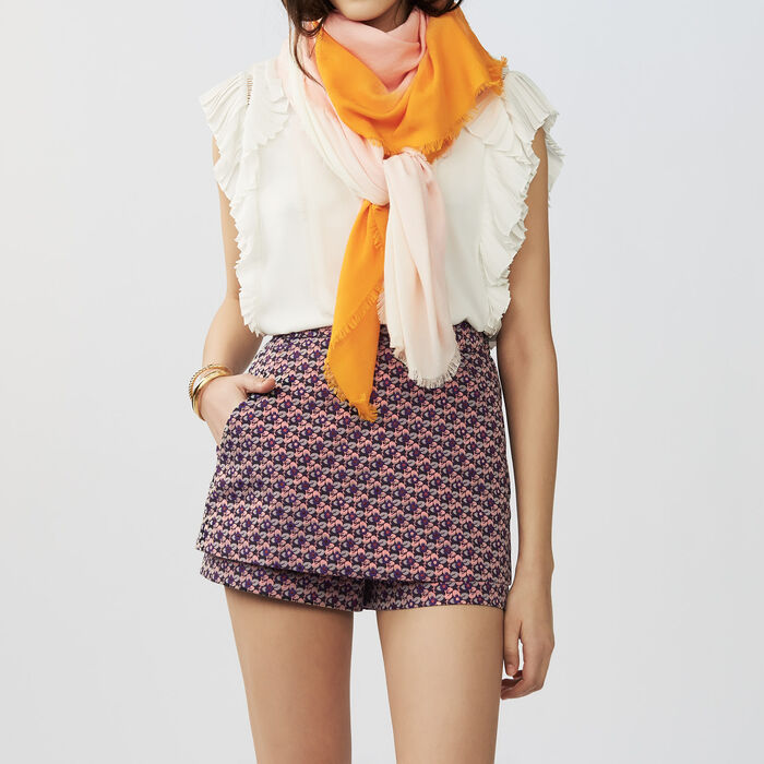 Tie and dye M printed : Shawls & Ponchos color Two-Tone
