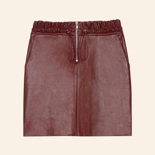 Zipped leather skirt - Skirts & Shorts - MAJE