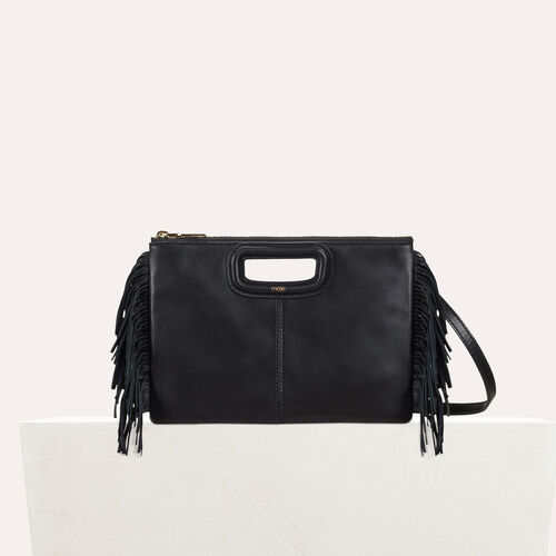Leather M Duo purse : M Duo color Black