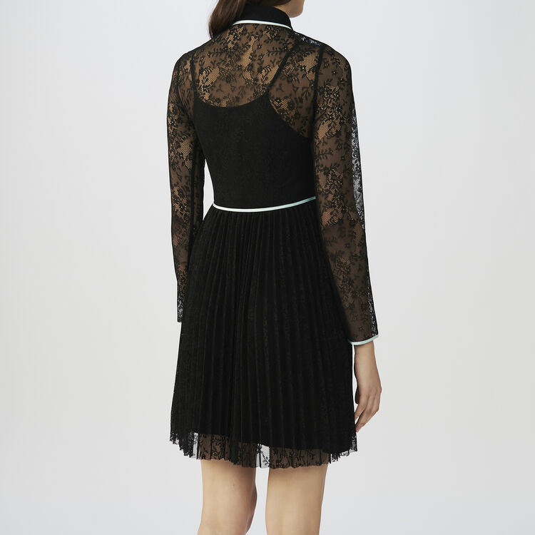 824eecc0bea4 RABILO Lace skater dress - Dresses - Maje.com