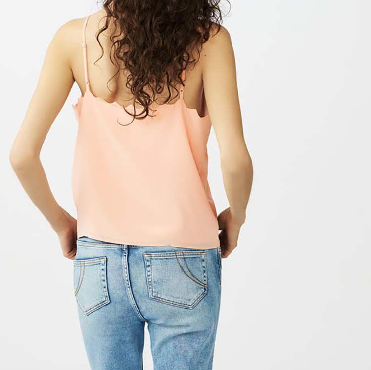Crepe Caraco camisole : Tops color Pink