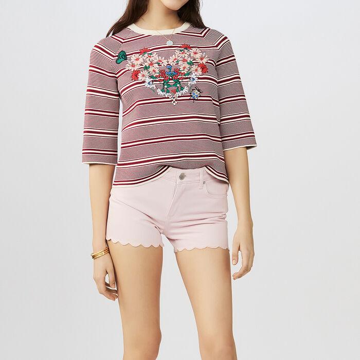 Denim short : Skirts & Shorts color Pink