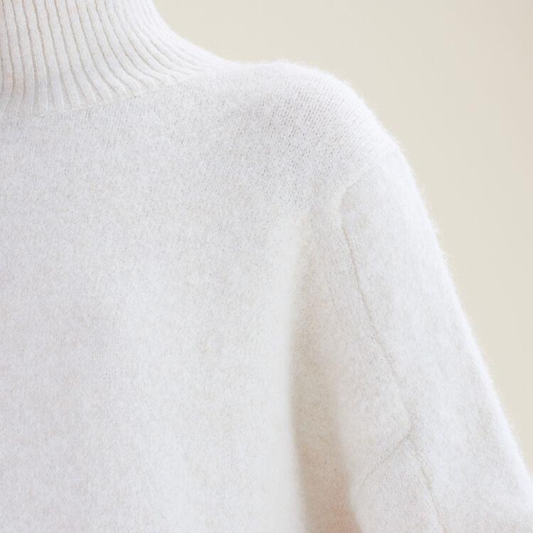 High neck jumper : Sweaters & Cardigans color Ecru