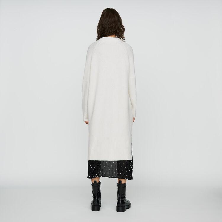 Long oversized cardigan : Ready to wear color ECRU