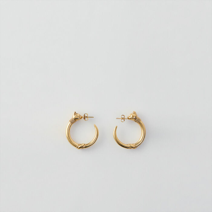 Cat hoops : Jewelry color Old Brass