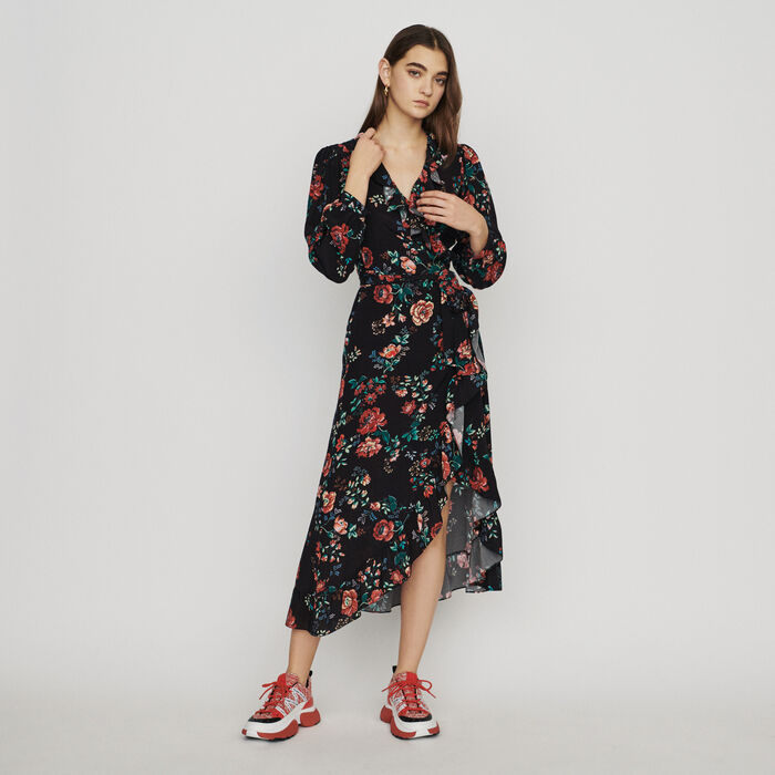 Long printed wrap dress : New in : Summer Collection color PRINTED