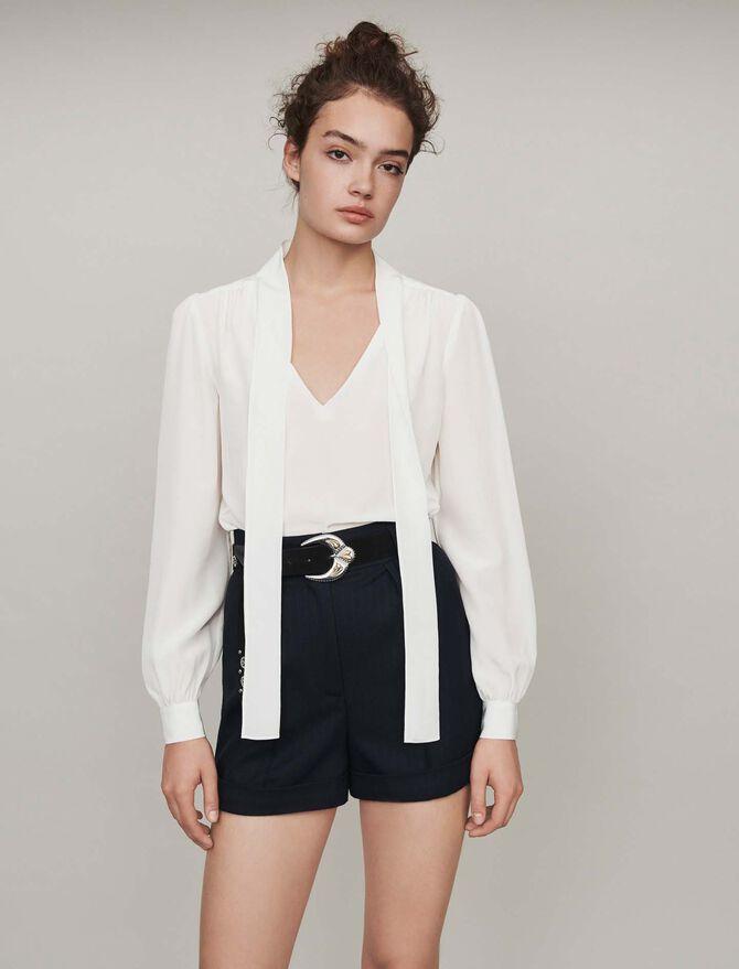 Pussycat bow silk top - Tops & Shirts - MAJE