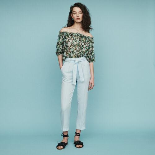 23a1cc2e97d Trousers   Jeans true Pleated pants   Trousers   Jeans color Blue Sky