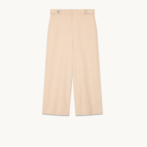 Wide cropped trousers - null - MAJE