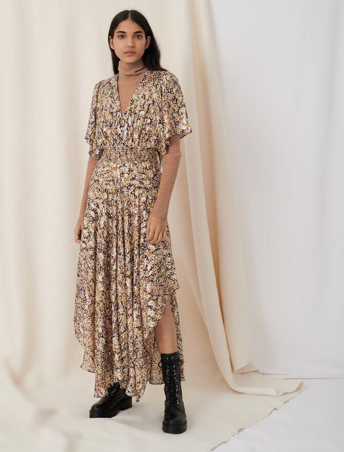 Smocked lurex jacquard dress - New collection - MAJE