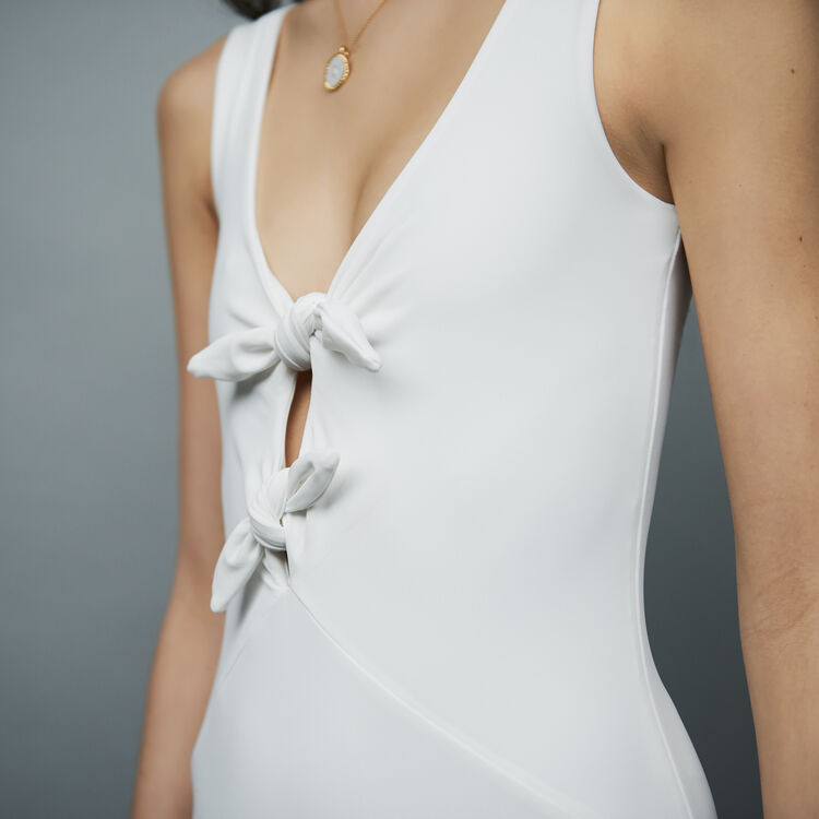 Swimsuit with bows : Swimsuit color WHITE