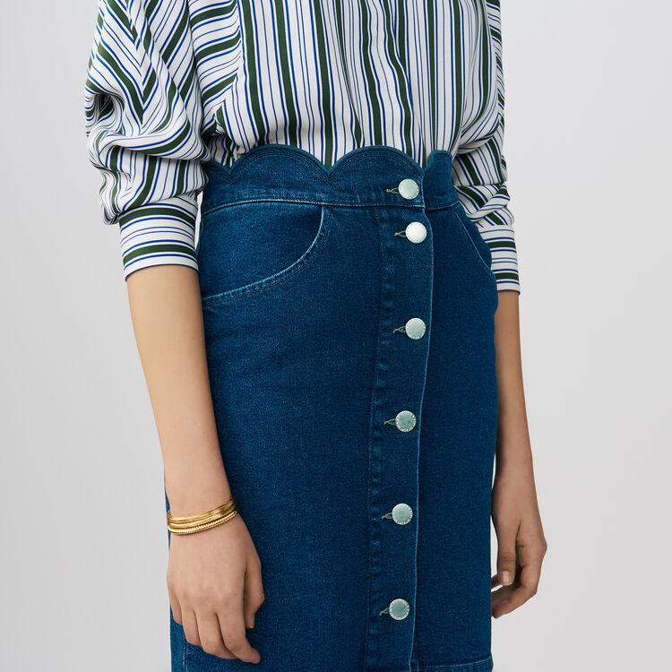 Denim shirt with fancy cutting : Skirts & Shorts color Denim