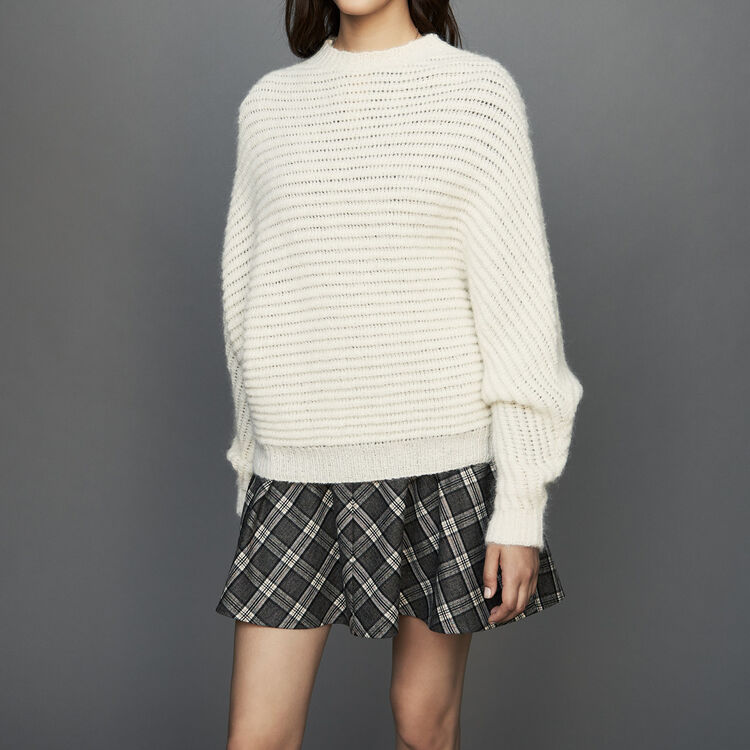 Cropped oversize sweater : See all color ECRU